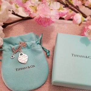 Authentic TIFFANY & Co. Silver I Love You Necklace